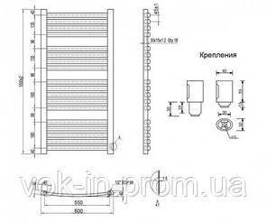 Полотенцесушитель Q-tap Dias (WHI) P18 1000x600 HY, фото 2