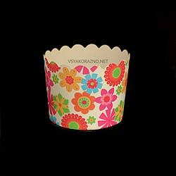 Бумажные формы для кексов и маффинов / Паперові форми для кексів і маффінів 61х55 мм (50 шт.) Цветок