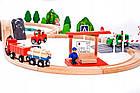Дитяча дерев'яна залізниця Doris (90 елементів) Польща, фото 4