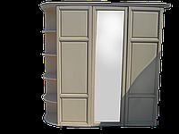 Шкаф деревянный Верона с радиусным карнизом эмаль белая