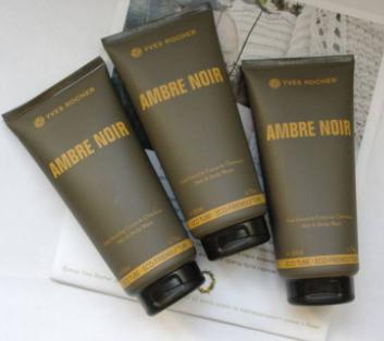 Мужской парфюмированный гель для тела и волос (как шампунь)200 мл черная амбра Ив роше Ambre Noir