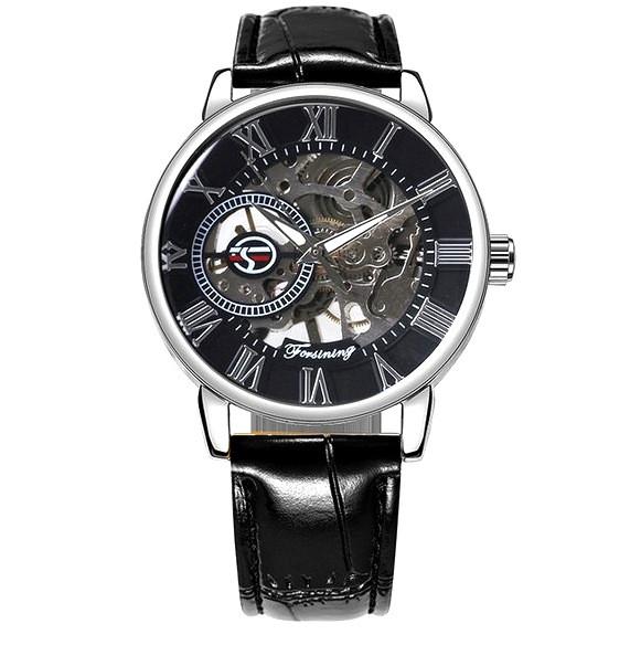Механические часы Forsining Rich (black-silver)