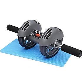 Тренажер колесо для пресса Power Stretch Roller PRO | Гимнастический ролик с возвратом