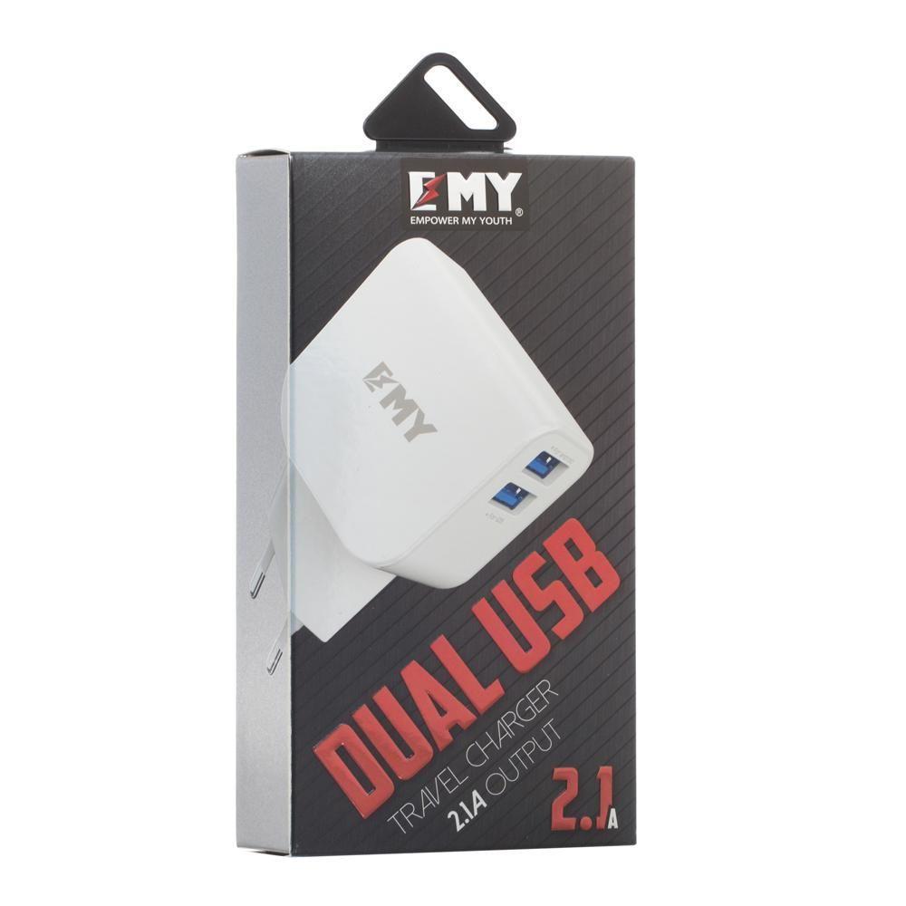 Сетевое зарядное устройство Emy MY-256 Lightning 2100 mAh SKL11-231601