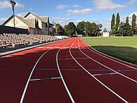 Cтадіон Спартак  м. Ніжин  покриття для легкої атлетики  Conica Conipur SP