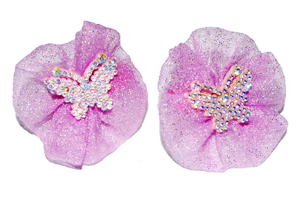 """Дитячі резиночки для волосся """"блискуча метелик"""""""