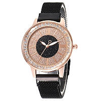 Часы кварцевые  Full Star  на  браслете с магнитом. Черный