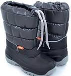 Зимние сапожки-сноубутсы Demar Lucky черный. Размеры 36-42, фото 5