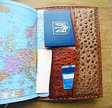 Обложка блокнот ежедневник кожа натуральная ручной работы формат листов А5 на кнопке, фото 8