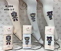 Детские демисезонные колготки  с рисунком, для девочек  (6 ед в уп) , 3-4 лет (98/104 см рост)