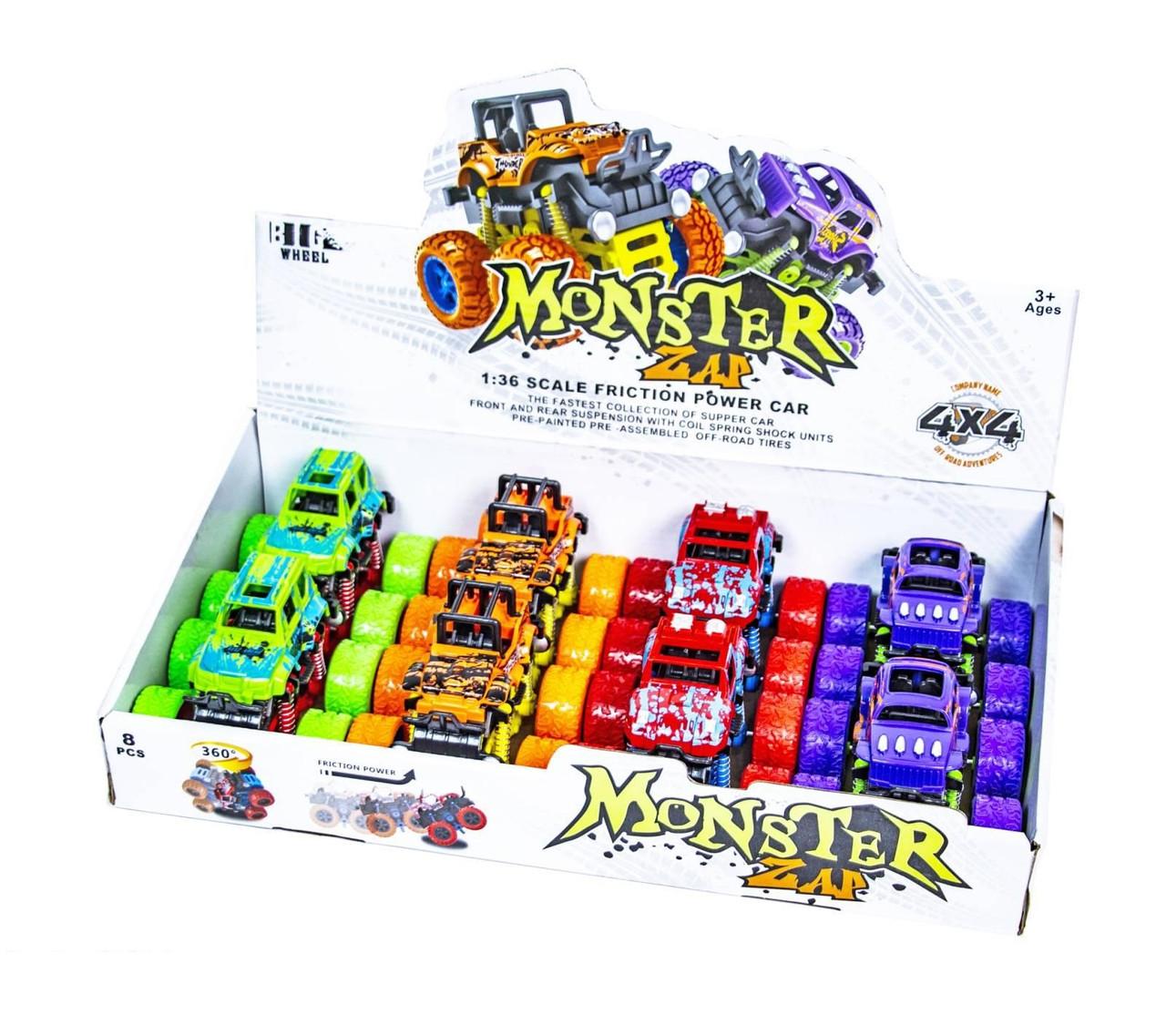 Трюковая инерционная машинка Monster 4х4
