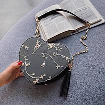 Элегантная круглая сумочка в форме сердца, фото 2