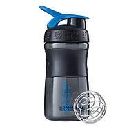Спортивная бутылка-шейкер BlenderBottle SportMixer 590ml Black/Cyan (ORIGINAL), фото 1