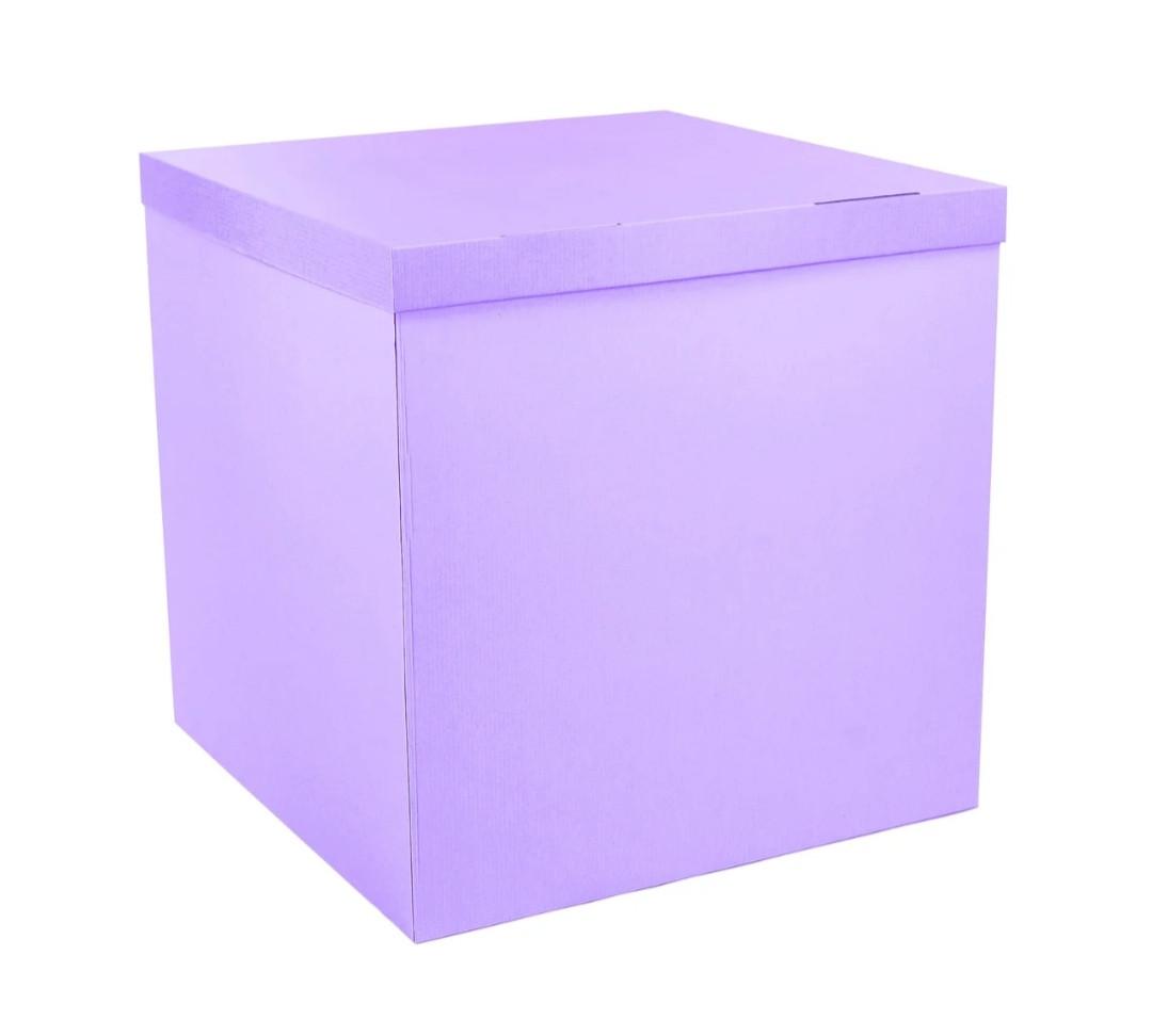 Подарункова коробка сюрприз лаванда 70*70*70см преміум   БРАК ЦІНА ЗНИЖЕНА (що з нею не так у описі)