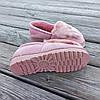 Рожеві теплі УГГІ короткі, сліпони хутряні autoledy автоледі унти укорочені теплі тапочки, фото 2