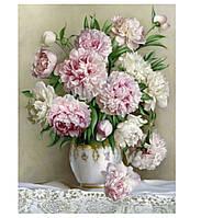 """Картина по номерам. Цветы, букеты, натюрморт . """"Нежные пионы"""" 40*50 см"""