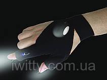 Рукавички Glove Light з вбудованим яскравим ліхтариком LED, фото 3