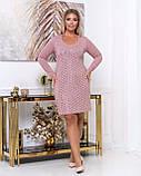 Платье из тонкой вязки повседневное, демисезонное, разные цвета р.48.50.52.54.56 Код Бордо, фото 3