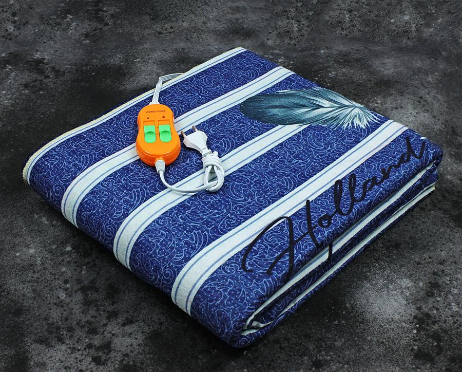Электропростынь двоспальне євророзмір Lux Electric Blanket Classrtignaut 155x170 см