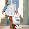 Стильный кожаный женский рюкзак KENZO, кензо. Белый, фото 3