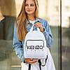 Стильный кожаный женский рюкзак KENZO, кензо. Белый, фото 5