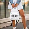 Стильный кожаный женский рюкзак KENZO, кензо. Белый, фото 7