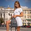 Стильный кожаный женский рюкзак KENZO, кензо. Серый, фото 6