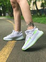 Кроссовки Adidas Yeezy Boost 350 V2 Адидас Изи Буст В2 (36,37,38,39,40), реплика. Женские кроссовки, кеды