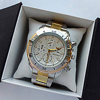Мужские наручные часы Emporio Armani (Армани), серебро-золото, дата - код 1731