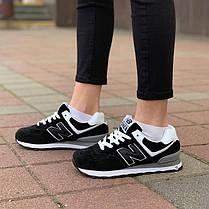 """Кросівки New Balance 574 """"Чорні"""", фото 2"""