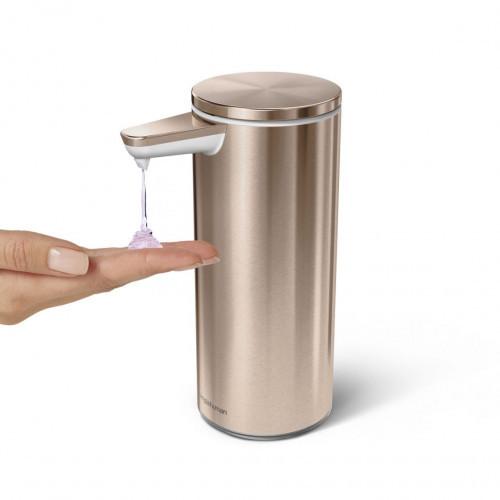 Дозатор жидкого мыла сенсорный 0,266 л (розово-золотистый,серебро)