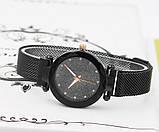 Часы кварцевые  Dimond  на  браслете с магнитом. Черный опт, фото 2