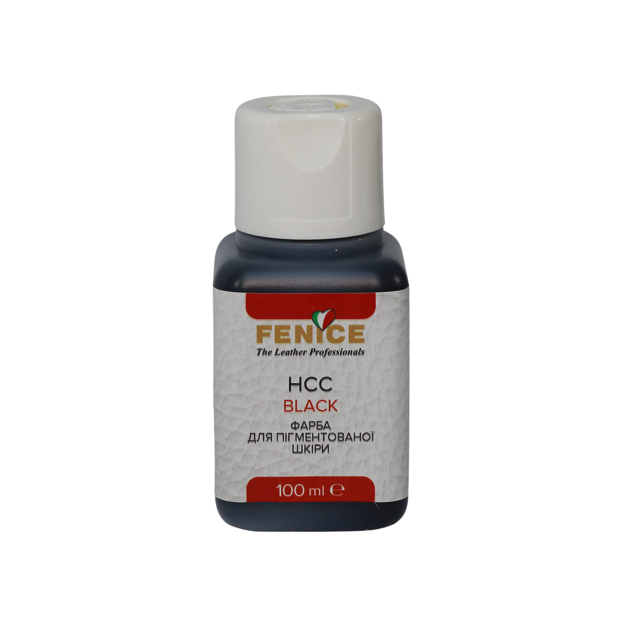 Краска для кожи Черная Fenice Black HCC, 100 ml