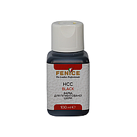 Краска для кожи Черная Fenice Black HCC, 100 ml, фото 1