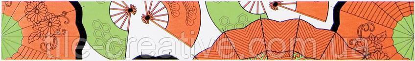 Керамическая плитка Бордюр Кимоно A1770/6162 Зонтики 40х6 Фриз