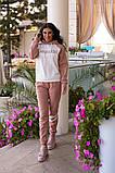 Женский спортивный костюм с апликацией, разные цвета,Р-р.44-46,48-50,52-54 Код 1104В, фото 2