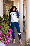 Женский спортивный костюм с апликацией, разные цвета,Р-р.44-46,48-50,52-54 Код 1104В, фото 3