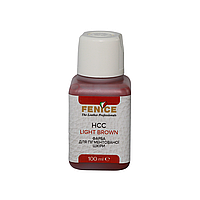 Краска для кожи Светло-коричневая Fenice Light Brown HCC, 100 ml, фото 1