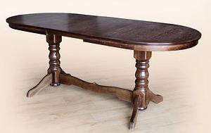 Стол обеденный Говерла №2 овальный раздвижной 120-160 см из дерева бук