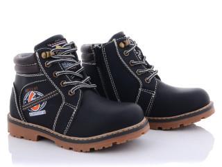 Ботинки детские Мир CF850-6 черные (раз.с 27 по 32)