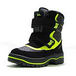 Зимние ботинки модель 7751 черный с салатовым. Качество. ТМ Сказка. Размер 30, фото 2