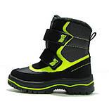 Зимние ботинки модель 7751 черный с салатовым. Качество. ТМ Сказка. Размер 30, фото 3