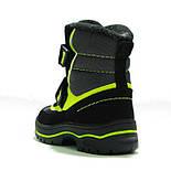 Зимние ботинки модель 7751 черный с салатовым. Качество. ТМ Сказка. Размер 30, фото 4