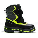 Зимние ботинки модель 7751 черный с салатовым. Качество. ТМ Сказка. Размер 30, фото 5