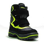 Зимние ботинки модель 7751 черный с салатовым. Качество. ТМ Сказка. Размер 30, фото 6