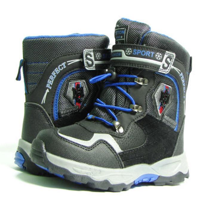Зимние дутики ботинки термо ТОМ М 5790А черный. Размеры 27-29