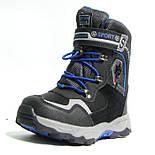 Зимние дутики ботинки термо ТОМ М 5790А черный. Размеры 27-29, фото 2