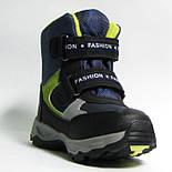 Зимние дутики ботинки термо ТОМ М 5795С синий. Размер 28, фото 6