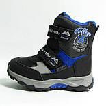 Зимние дутики ботинки термо ТОМ М 5795А черный. Размеры 28 и 31, фото 4
