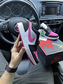 Nike Air Jordan 1 Low Black Pink White (Белый, Розовый, Чёрный)
